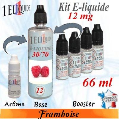 E-liquide-Framboise-12mg 30/70