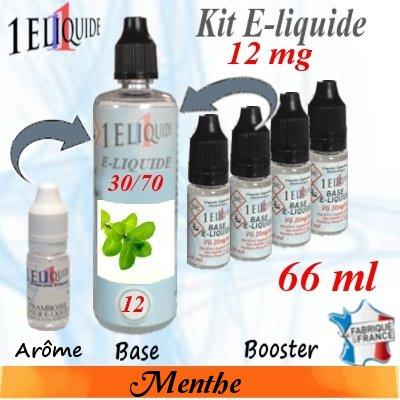 E-liquide-Menthe-12mg 30/70