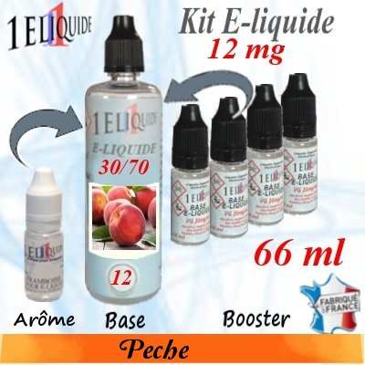 E-liquide-Pêche-12mg 30/70