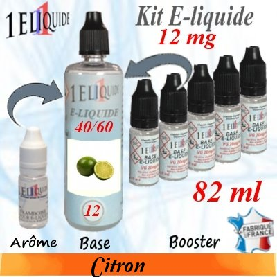 E-liquide-Citron-12mg 40/60