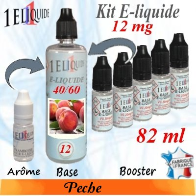 E-liquide-Pêche-12mg 40/60