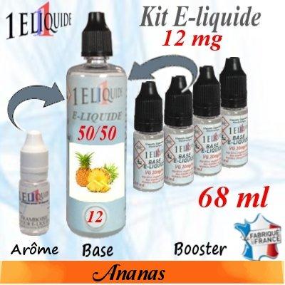 E-liquide-Ananas-12mg 50/50