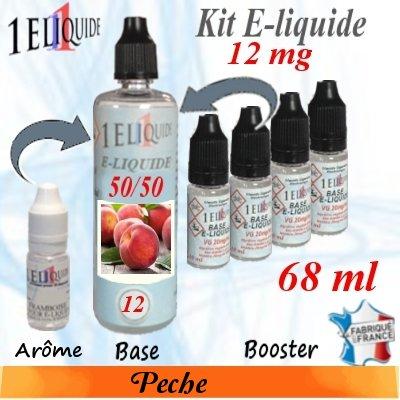 E-liquide-Pêche-12mg 50/50