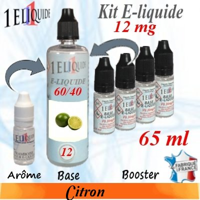 E-liquide-Citron-12mg 60/40