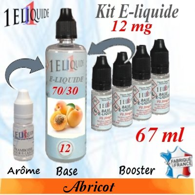 E-liquide-Abricot-12mg 70/30