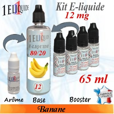 E-liquide-Banane-12mg 80/20