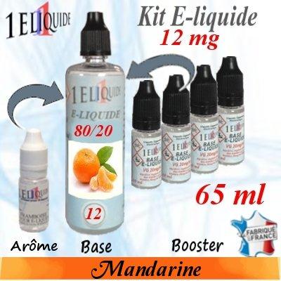 E-liquide-Mandarine-12mg 80/20