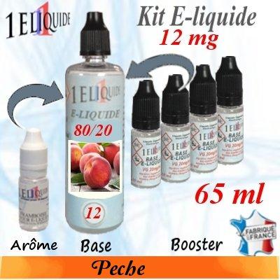 E-liquide-Pêche-12mg 80/20