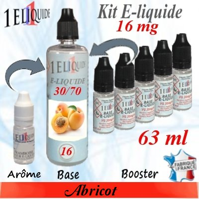 E-liquide-Abricot-16mg 30/70