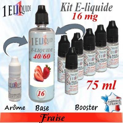 E-liquide-Fraise-16mg 40/60