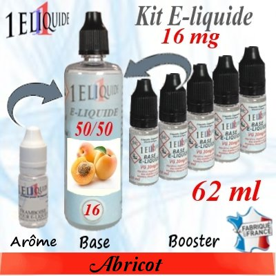 E-liquide-Abricot-16mg 50/50