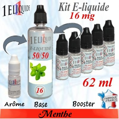 E-liquide-Menthe-16mg 50/50