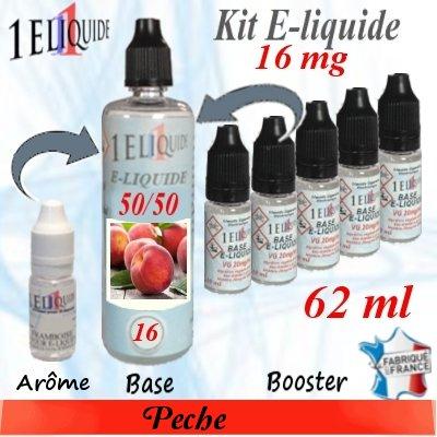E-liquide-Pêche-16mg 50/50