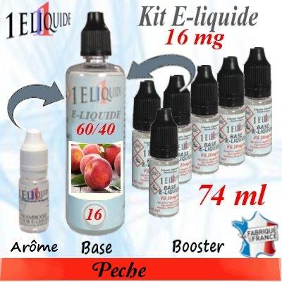 E-liquide-Pêche-16mg 60/40
