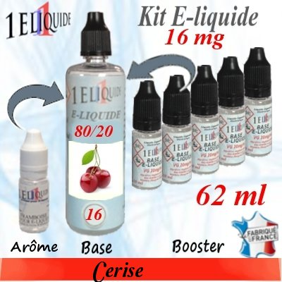 E-liquide-Cerise-16mg 80/20