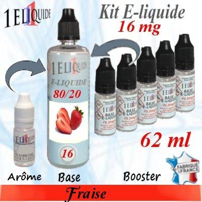 E-liquide-Fraise-16mg 80/20