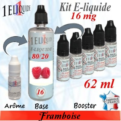 E-liquide-Framboise-16mg 80/20