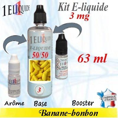 E-liquide-Banane-bonbon-3mg 50/50