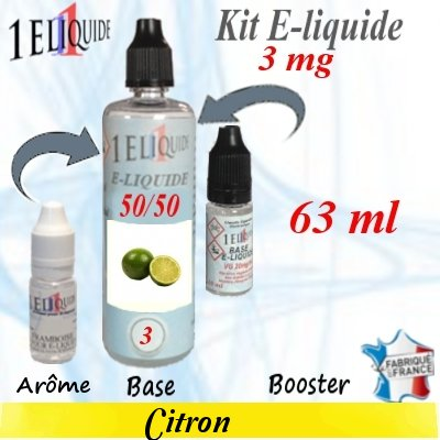 E-liquide-Citron-3mg 50/50