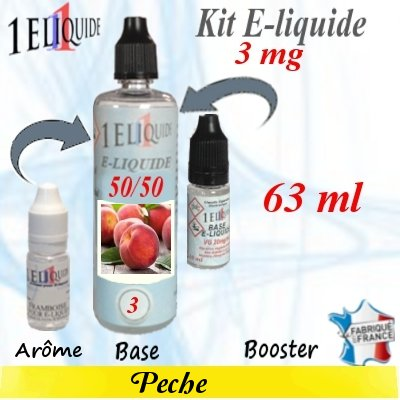 E-liquide-Pêche-3mg 50/50