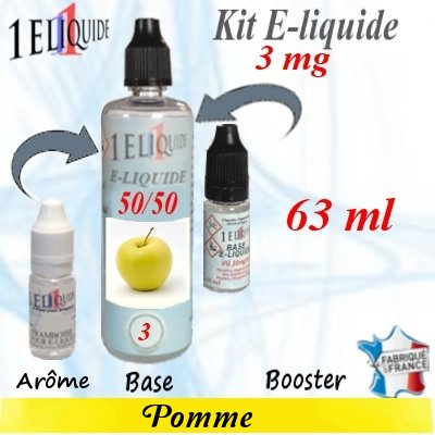 E-liquide-Pomme-3mg 50/50
