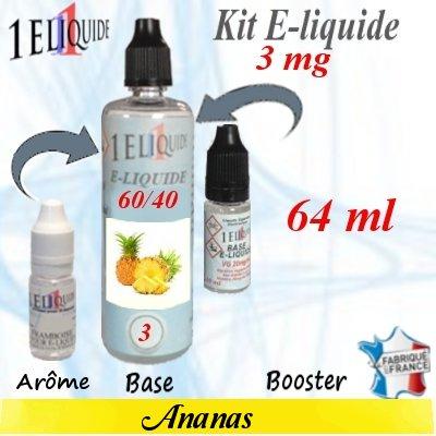 E-liquide-Ananas-3mg 60/40