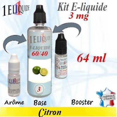 E-liquide-Citron-3mg 60/40