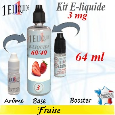 E-liquide-Fraise-3mg 60/40