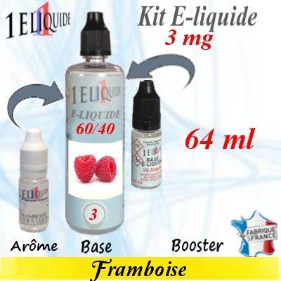 E-liquide-Framboise-3mg 60/40