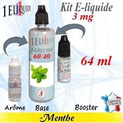 E-liquide-Menthe-3mg 60/40