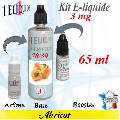 E-liquide-Abricot-3mg 70/30