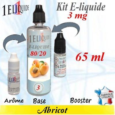 E-liquide-Abricot-3mg 80/20
