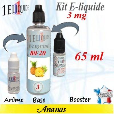 E-liquide-Ananas-3mg 80/20