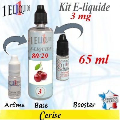 E-liquide-Cerise-3mg 80/20