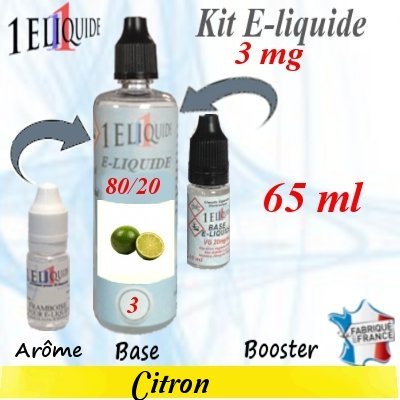 E-liquide-Citron-3mg 80/20