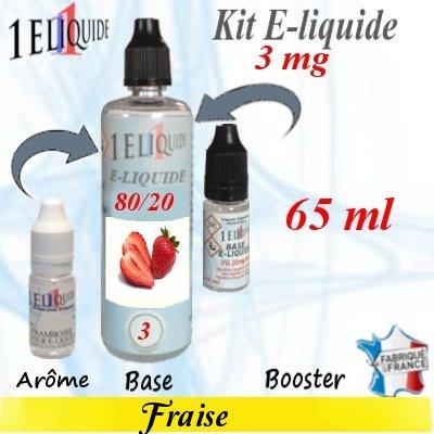 E-liquide-Fraise-3mg 80/20
