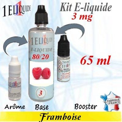 E-liquide-Framboise-3mg 80/20