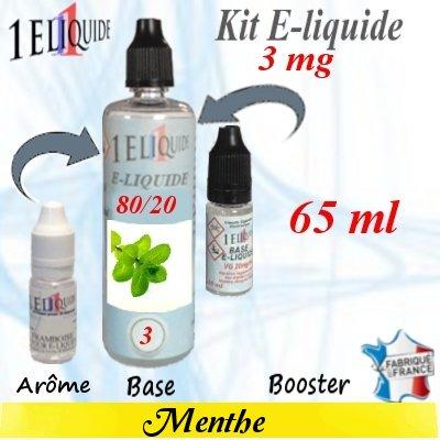 E-liquide-Menthe-3mg 80/20