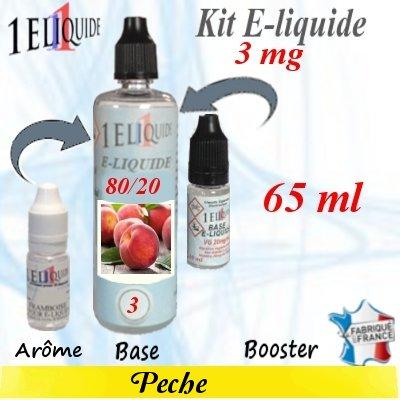 E-liquide-Pêche-3mg 80/20