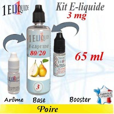 E-liquide-Poire-3mg 80/20