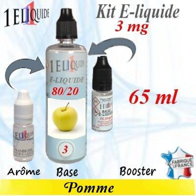 E-liquide-Pomme-3mg 80/20