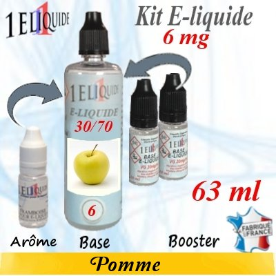 E-liquide-Pomme-6mg 30/70