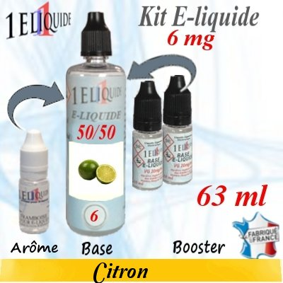 E-liquide-Citron-6mg 50/50