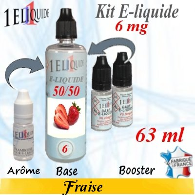 E-liquide-Fraise-6mg 50/50