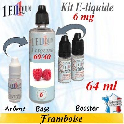 E-liquide-Framboise-6mg 60/40