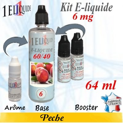 E-liquide-Pêche-6mg 60/40