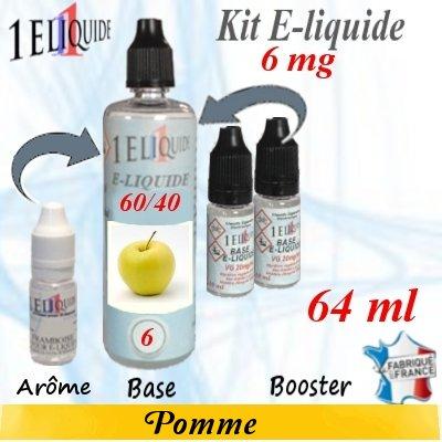 E-liquide-Pomme-6mg 60/40