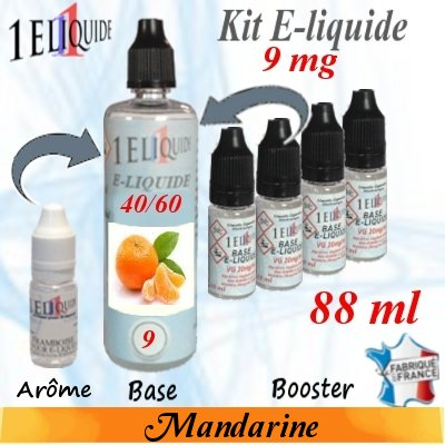 E-liquide-Mandarine-9mg 40/60