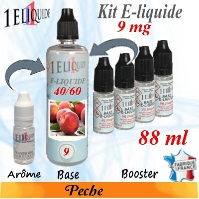 E-liquide-Pêche-9mg 40/60