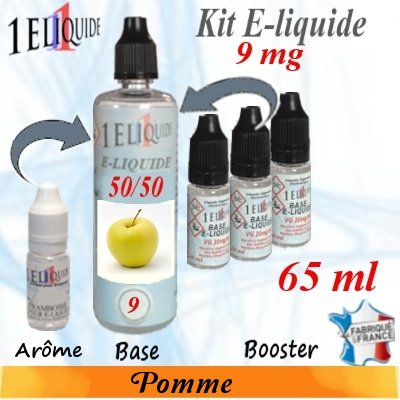 E-liquide-Pomme-9mg 50/50